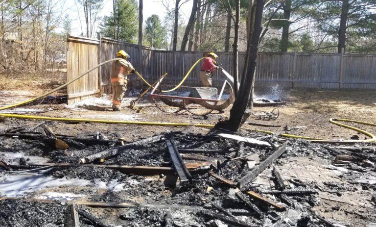 Deep River firefighters knock down burn